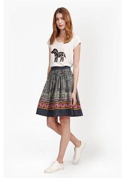 Lila Tile Linen Flared Skirt