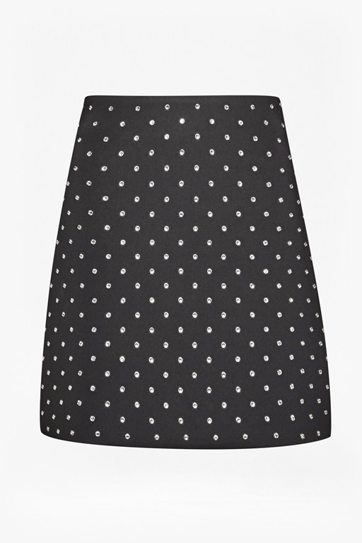 Complete the Look Diamond Drop Embellished Mini Skirt