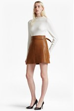Looks Great With Goldenberg A Line Leather Skirt