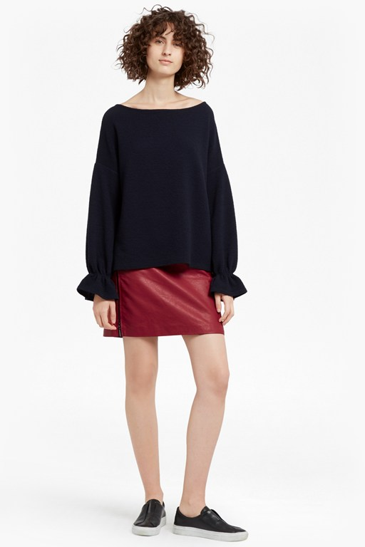 Canterbury Zipped Faux Leather Skirt