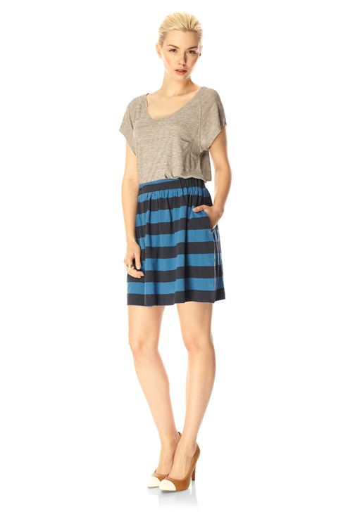 Toledo Stripe Mini Flare Skirt