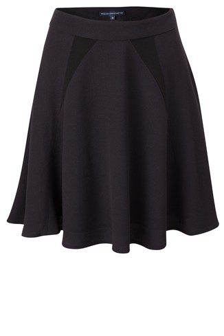 Twinkle Crepe Flared Skirt