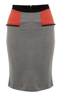 Manhattan Jersey Block Skirt