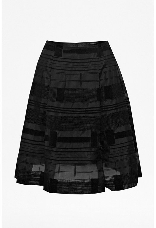 Nomad Flock Flared Silk Skirt