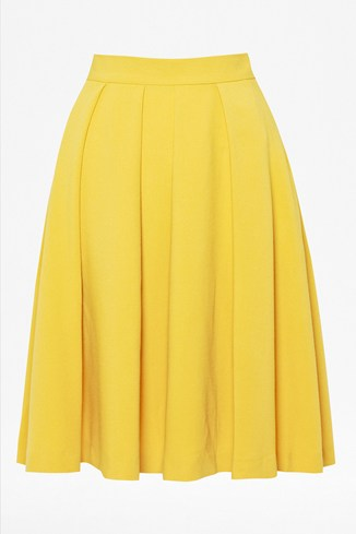 Feather Light Flared Midi Skirt