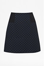 Looks Great With Night Sky Jacquard A-Line Skirt