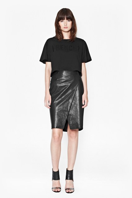 Cali Leather Pencil Skirt