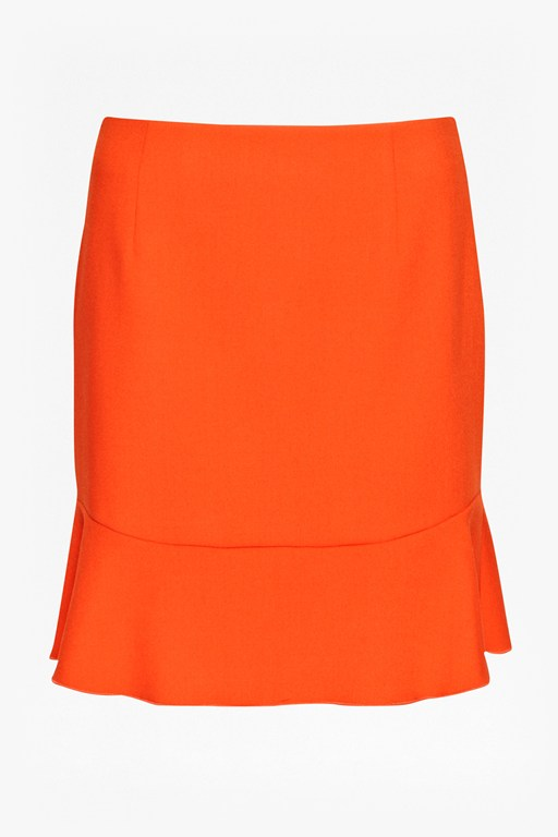 whisper light fluted hem skirt