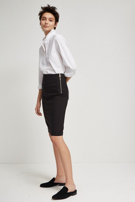 glass stretch pencil skirt