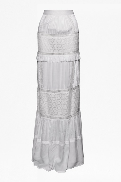lola lace tiered maxi skirt