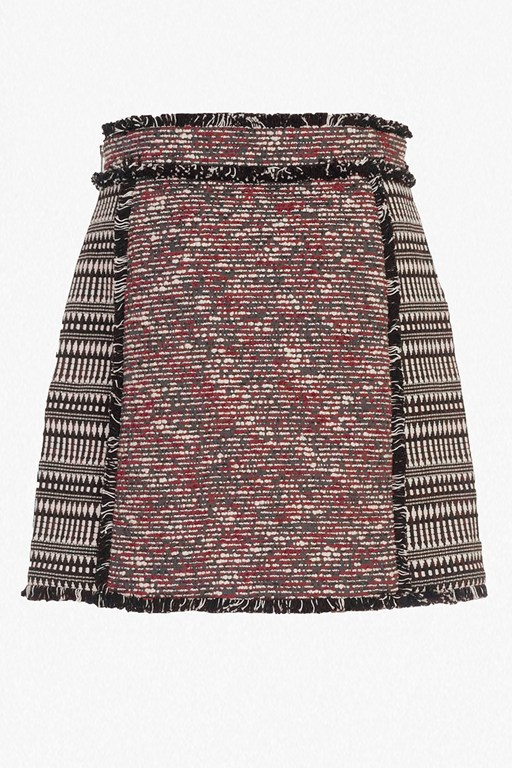 pixel mix cotton mini skirt