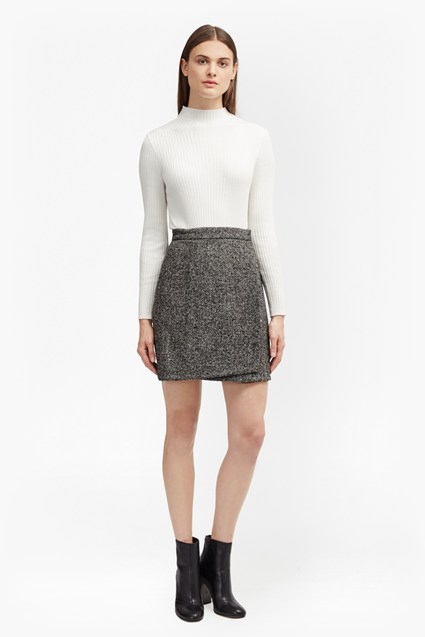 Rupert Tweed Wrap Mini Skirt