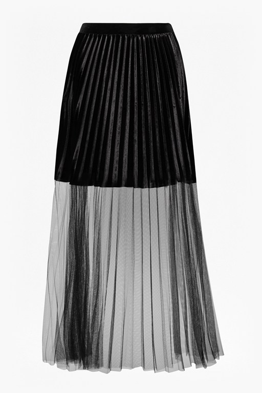Complete the Look Rosalie Velvet Tulle Maxi Skirt