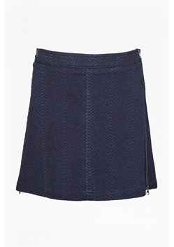 Snake Jacquard Denim Mini Skirt