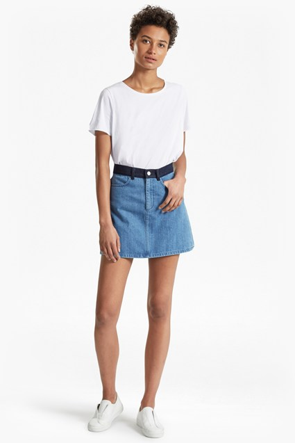 Mia Blue Denim Mini Skirt