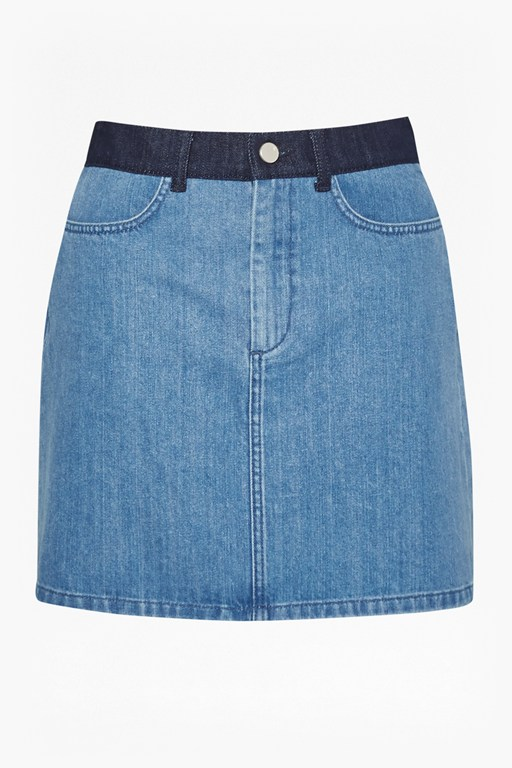 Complete the Look Mia Blue Denim Mini Skirt