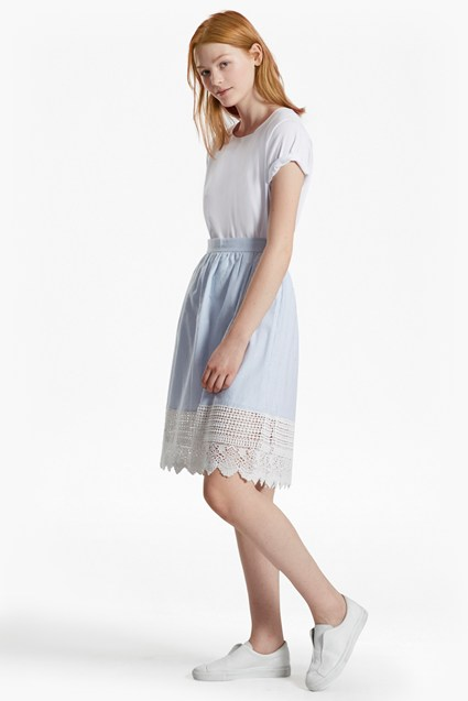 Nuru Schiffley Lace Cotton Skirt