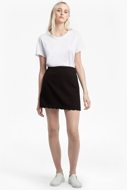 Sundae Suiting Scallop Edge Skirt