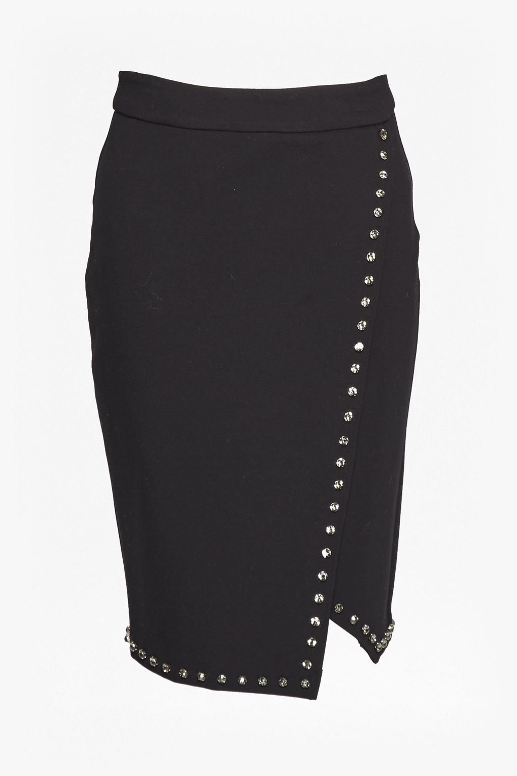 French Connection Lula Rhinestone Wrapover Pencil Skirt Visa Payment Low Shipping Fee Cheap Online Cheap Sale Newest Visit New Cheap Online PPOlN0dzf