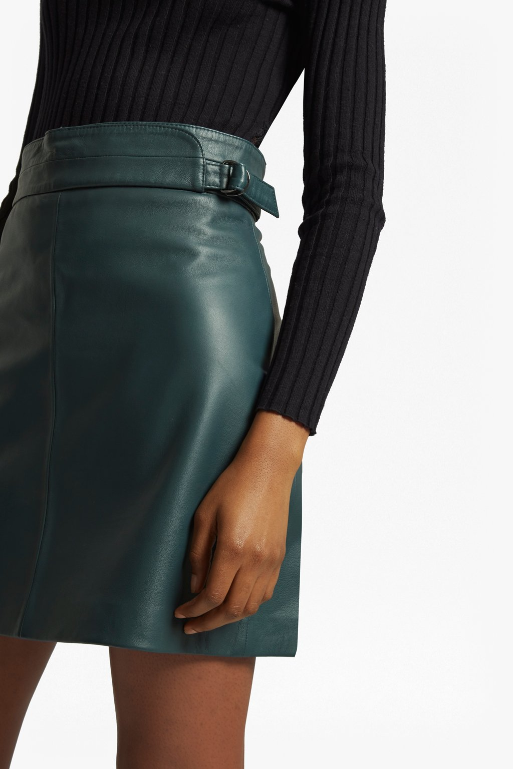 Green Leather Skirt