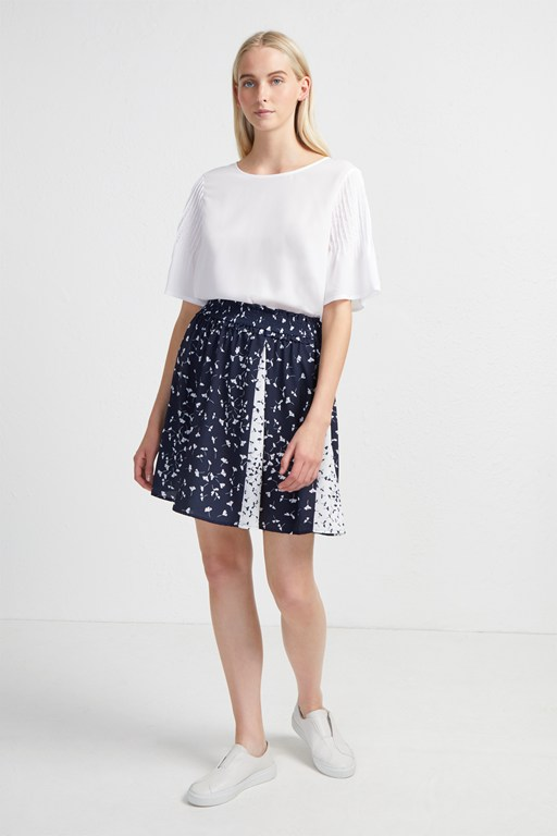 komo drape mini flared skirt