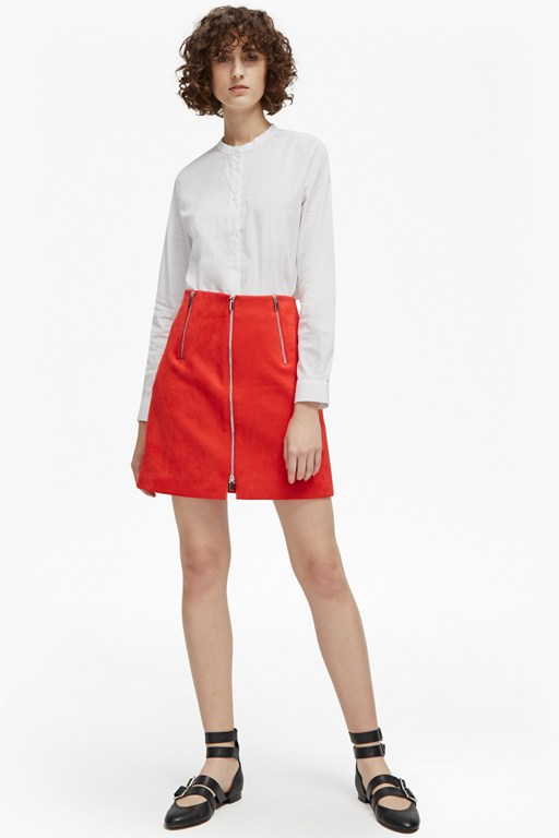 ellef suedette mini skirt