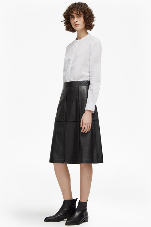 gizo leather a line skirt