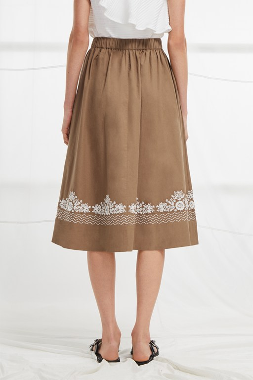 Complete the Look Rhodea Poplin Embroidered Basque Skirt