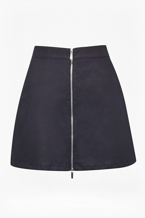 raise shine denim mini skirt