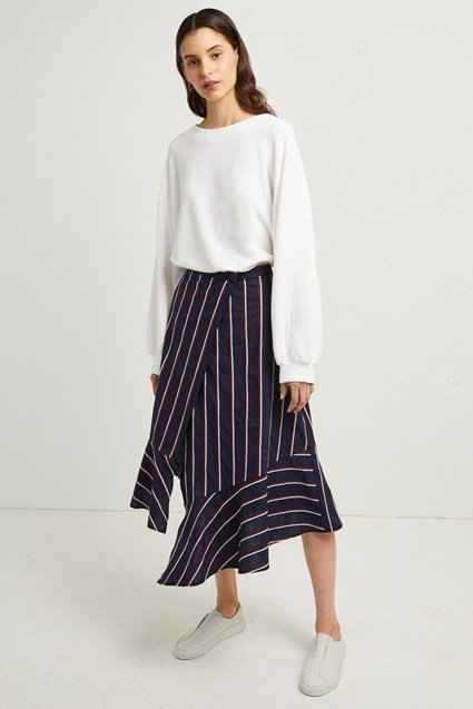 Ceola Cotton Wrapover Skirt