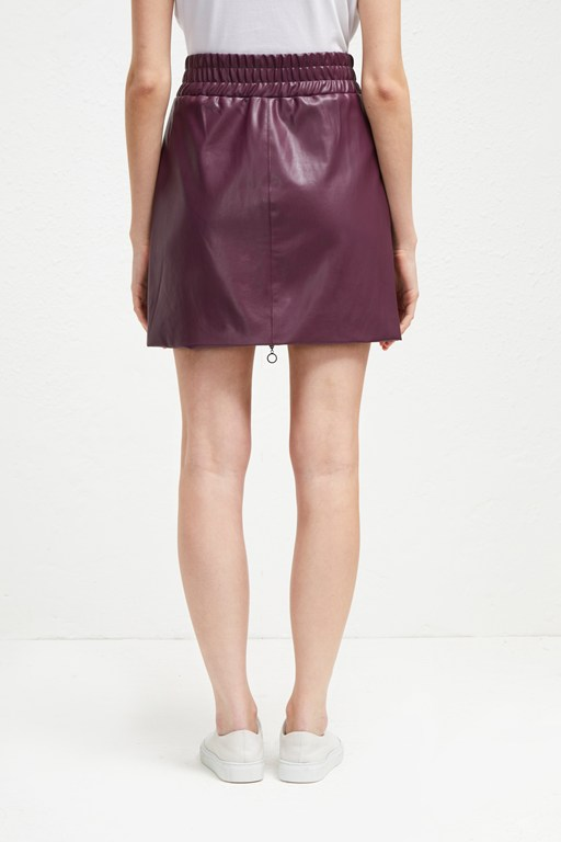 Complete the Look Brishen PU Zip Front Mini Skirt