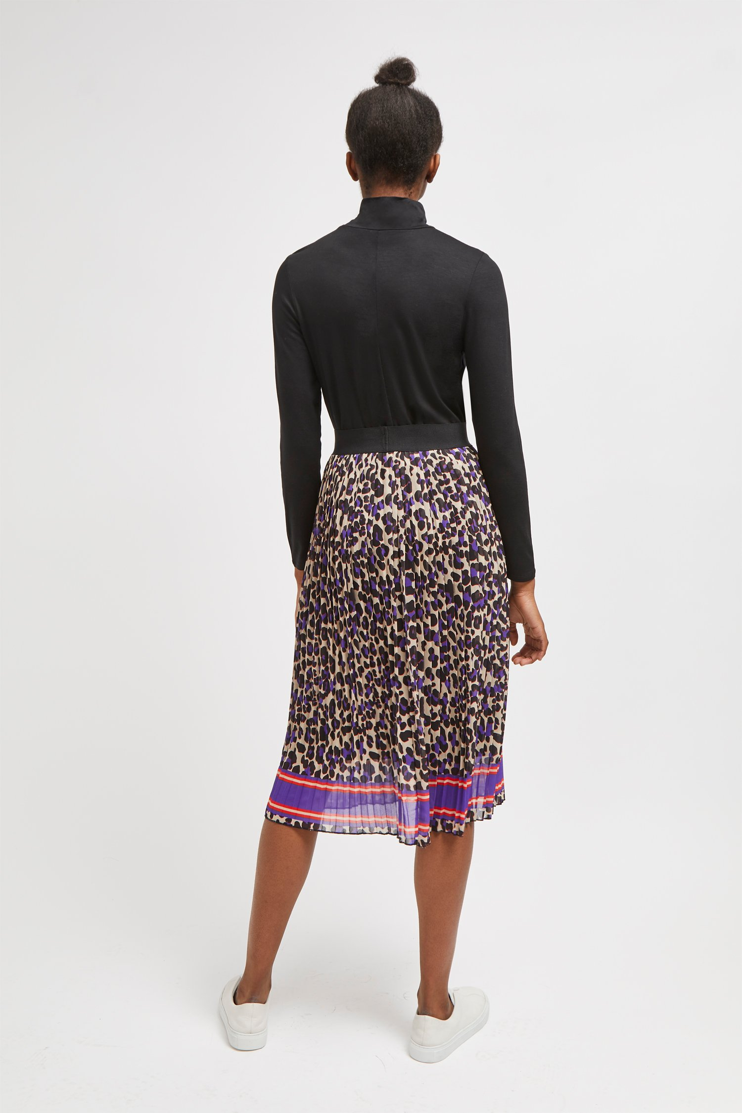 ceeab0d8728fed Leopard Print Pleated Midi Skirt | Collections | French Connection