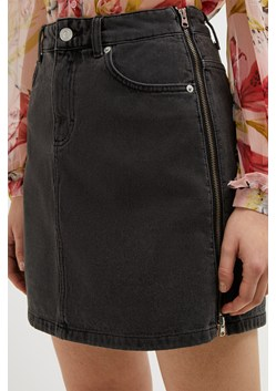 Pepper Denim Zip Side Mini Skirt