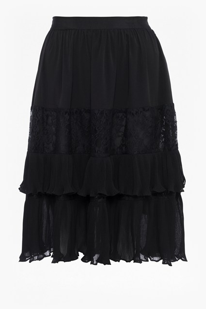Clandre Vintage Lace Mix Skirt