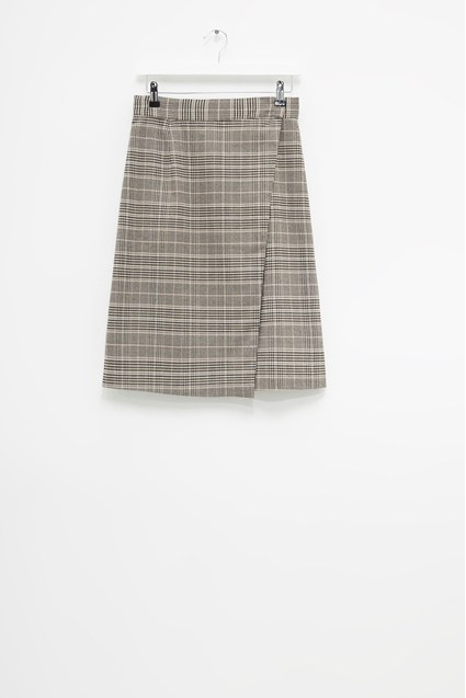 Amati Check Wrap Skirt