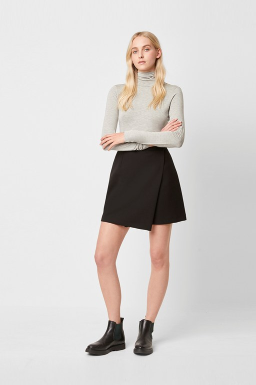 Complete the Look Alido Sundae Suiting Wrap Skirt