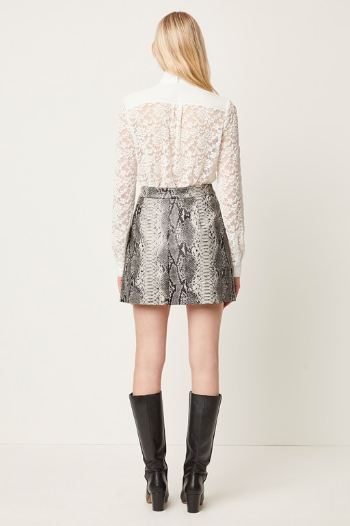 Complete the Look Elias PU Reptile Mini Skirt