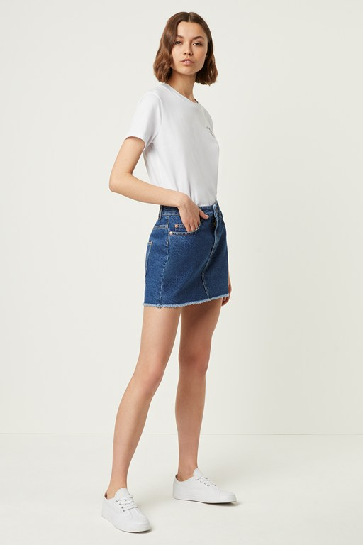 leona denim mini skirt