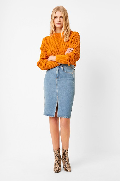 Complete the Look Reem Denim High Waisted Pencil Skirt