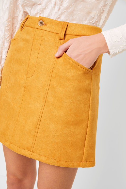 Complete the Look Bahati Suedette Mini Skirt