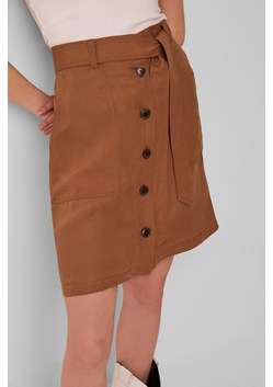 Yester Linen Belted Mini Skirt