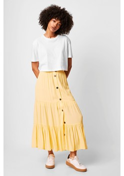 Easha Drape Button Front Skirt