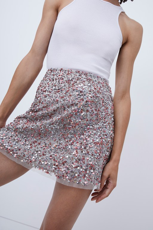 eero sequin mini skirt