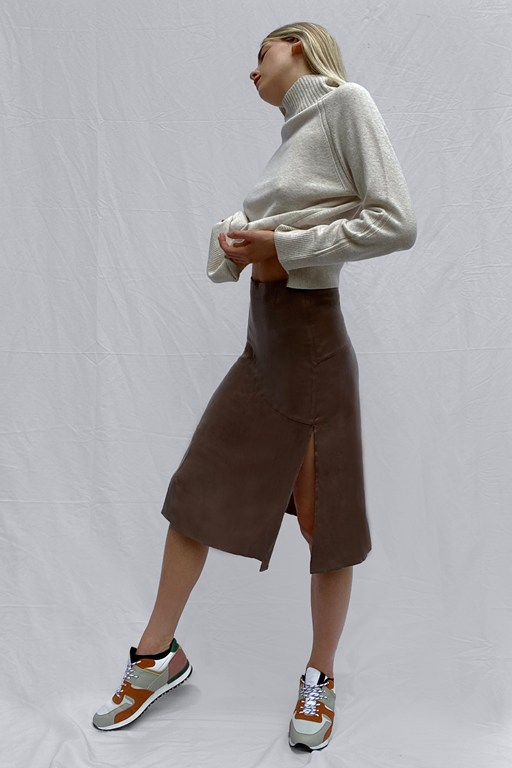 carria cupro skirt
