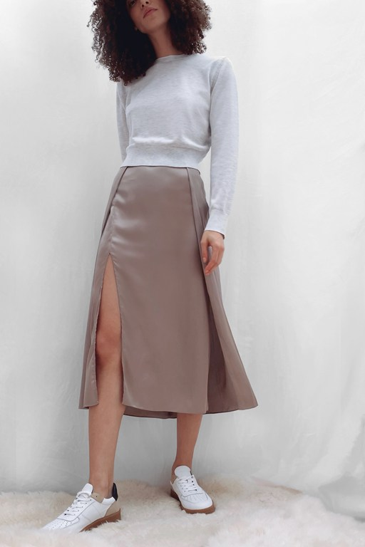 inu satin slip skirt