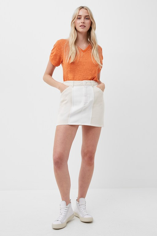 poppie colour block mini skirt