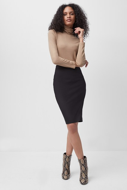 Fino Glass Stretch Pencil Skirt