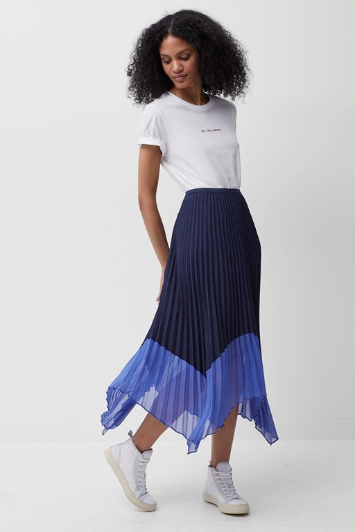 ali pleated midi skirt