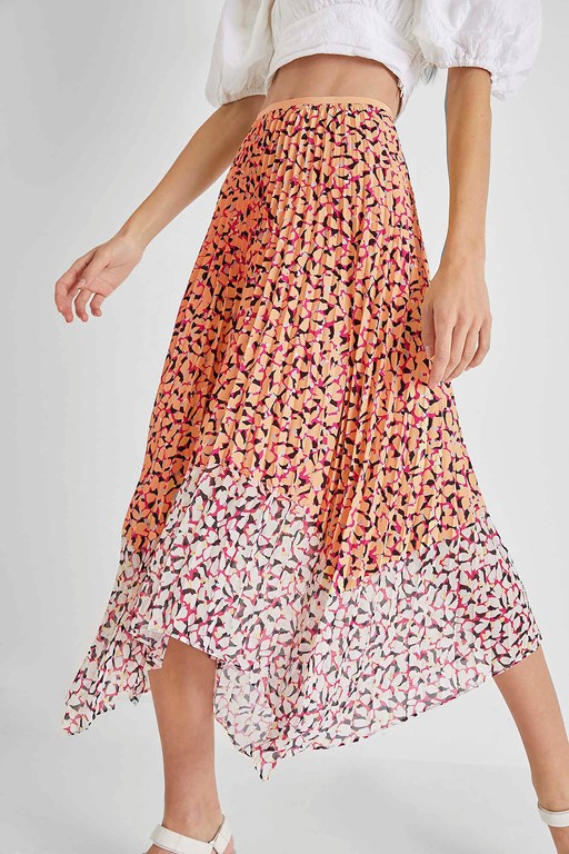 ekeze light pleated midi skirt