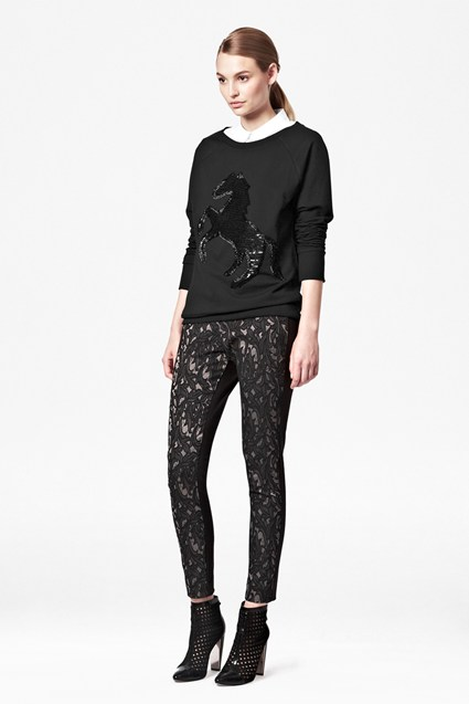 Lily Jacquard Trousers